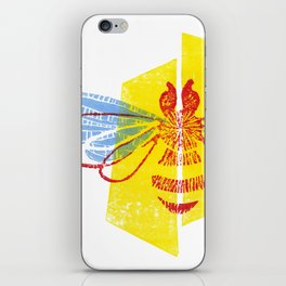 Be Safe - Save Bees linocut iPhone Skin