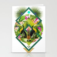 kris tate Stationery Cards featuring ▲ TROPICANA ▲ by KRIS TATE x BOHEMIAN BLAST by ▲ BOHEMIAN BLAST ▲