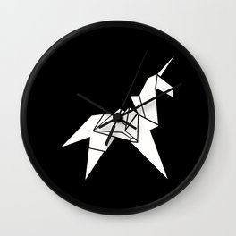 Unicorn Origami Wall Clock