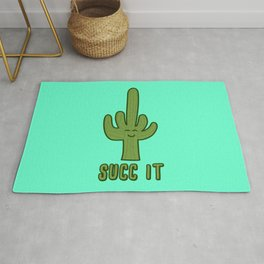 Succ It - Cute But Rude Cactus Rug