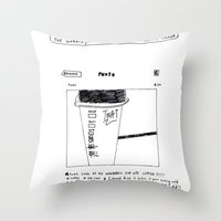instagram Throw Pillows featuring instagram fucker by Jonathan Evans