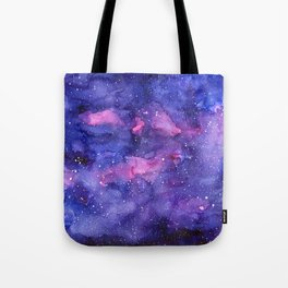 Galaxy Pattern Watercolor Tote Bag