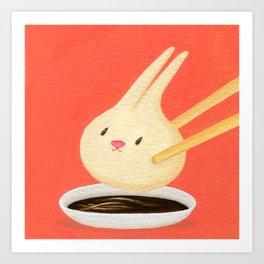 Bunny Dumpling Art Print