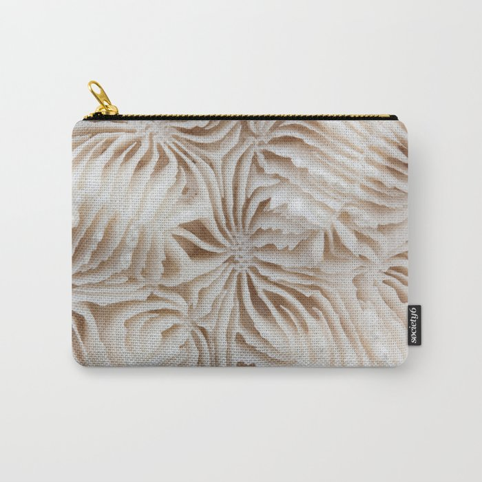 Coral Pattern Carry-All Pouch
