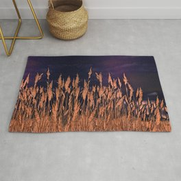 Abstract beach grass Rug