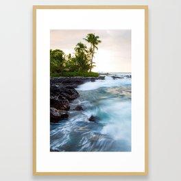 Hawaii Big Island Beach Framed Art Print
