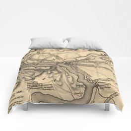 George Washington Trenton NJ Battlefield Map 1777 Comforters