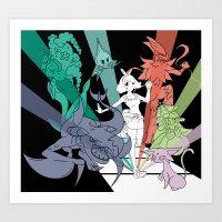 Battle Team Art Print