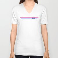 bisexual V-neck T-shirts featuring JOHN IS BISEXUAL by FineFeather