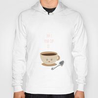 wallet Hoodies featuring 'Am I your cup of tea?' by aPersonalidea