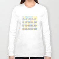 numbers Long Sleeve T-shirts featuring Numbers by Andrew Reid