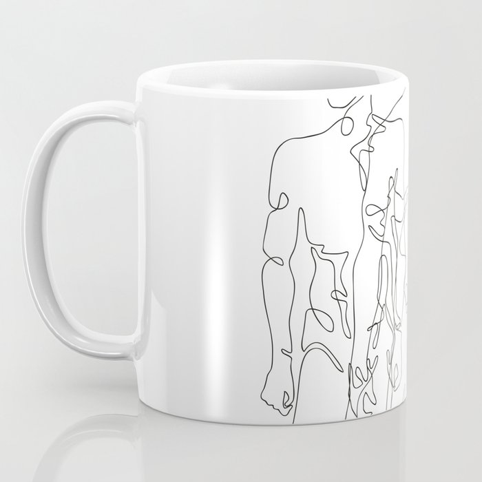 one line male figures Coffee Mug