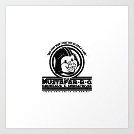 Mustafar-B-Q Art Print