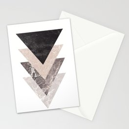 Geometric Shapes. Marble Triangles. Stationery Cards