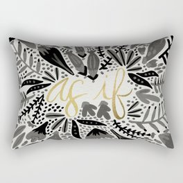As If – Black & Gold Rectangular Pillow