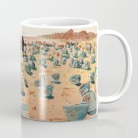 battlefield Mugs featuring The Battlefield. by Jera Sky
