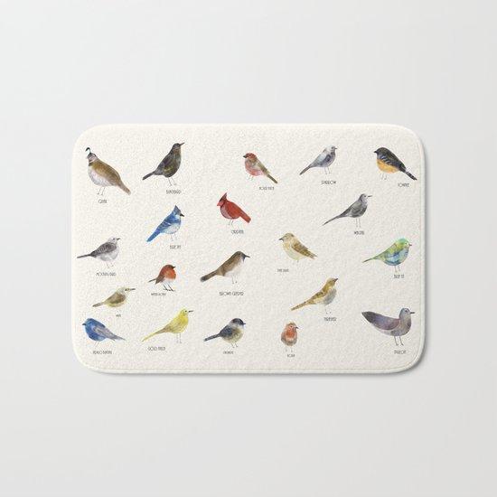 little nature birds Bath Mat