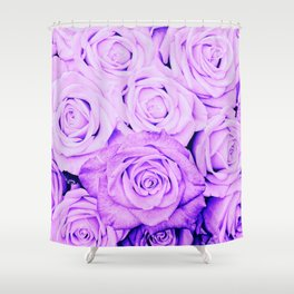 Some people grumble - Floral Ultra Violet Rose Roses Flowers Shower Curtain
