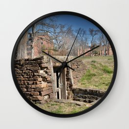 Cherokee Nation - Hendricks Spring, the Site Selected for Seminary Hall, after the first burned, #2 Wall Clock