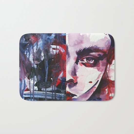 Those dangerous eyes, unfortunately, I know too well Bath Mat