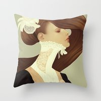 lace Throw Pillows featuring Lace by Jumei
