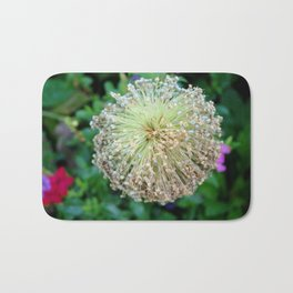 Allium Flower  Bath Mat
