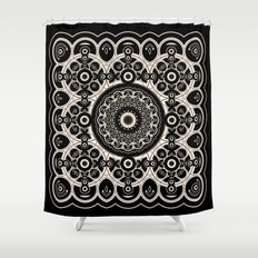 Lace Mandala Shower Curtain