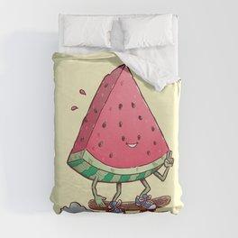 Watermelon Slice Skater Duvet Cover