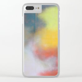 Color Grid Edit Clear iPhone Case