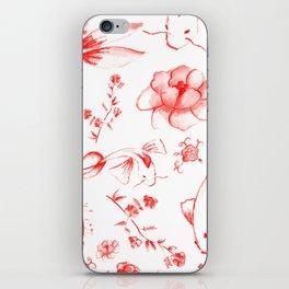 Watercolor KOI Fish in red iPhone Skin