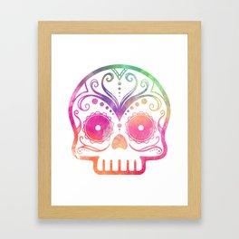 """Custom Design Modern Sugar Skull (""""Calavera"""") Framed Art Print"""