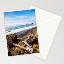 Remnants - Driftwood Logs Come to Rest on Shore of Washington Coast Stationery Cards
