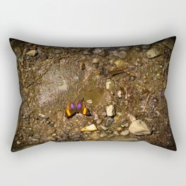 Butterfly on Muddy Ground Rectangular Pillow