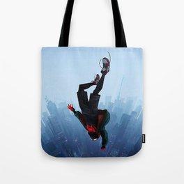 Miles Morales jump Tote Bag