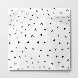 Folded Arrows Pattern Metal Print
