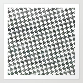 Black and white houndstooth pattern Art Print