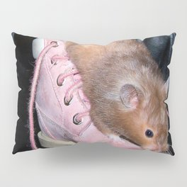 The Old Hamster in the Shoe Pillow Sham