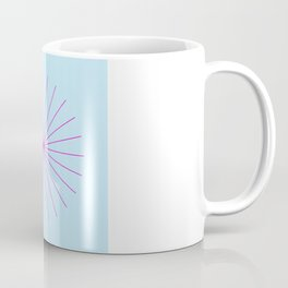 SpikeyBurst - Pastel Blue with Bright Pink Coffee Mug