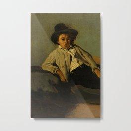 "Jean-Baptiste-Camille Corot ""Italian Peasant Boy"" Metal Print"