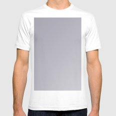 modern lilac-gray ombre gradient Mens Fitted Tee White MEDIUM