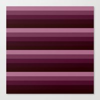 burgundy Canvas Prints featuring Burgundy stripes by SimplyChic