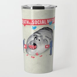 Death by Social Media Travel Mug