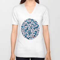 cherry blossom V-neck T-shirts featuring Cherry Blossom by Alannah Brid