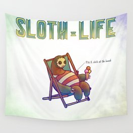 SLOTH LIFE fig. 6. Wall Tapestry