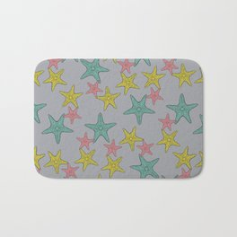 Starfish gray background Bath Mat