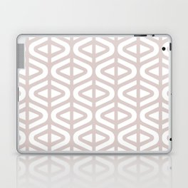 Mid Century Modern Split Triangle Pattern Light Beige 2 Laptop & iPad Skin