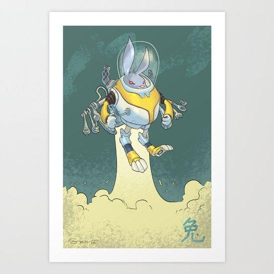 Astro Zodiac Force 04: Rabbit Art Print