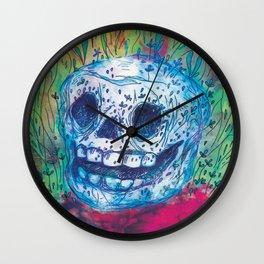 Mayan Skull Wall Clock
