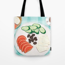 Fresh Home-cooked Turkish Breakfast Tote Bag