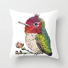 Baby Hummingbird Throw Pillow